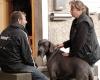 """Filmhund Leon aus Tatort  """"Krumme Hunde"""" der ARD bei den Dreharbeiten"""